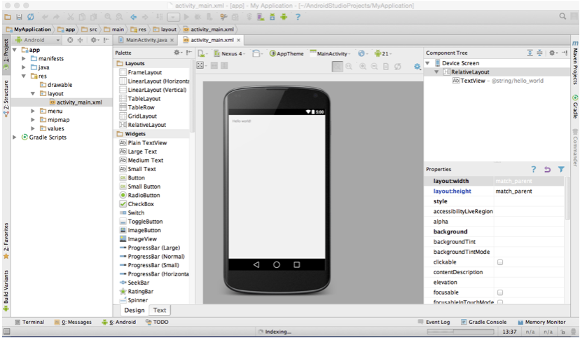 Android - Area de trabalho