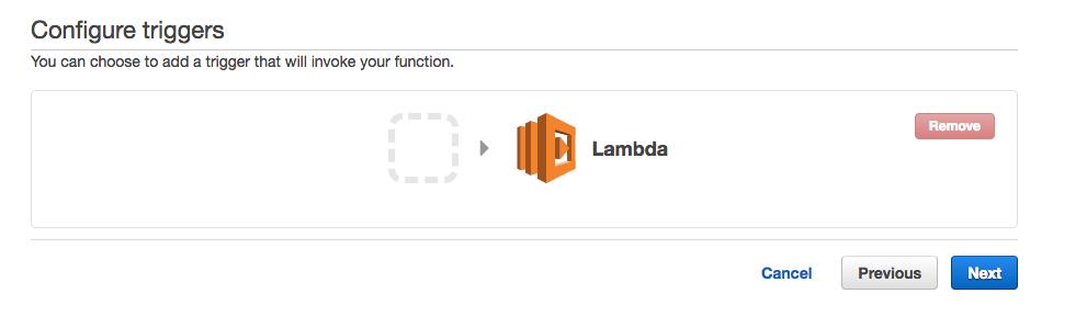 configure triggers aws lambda