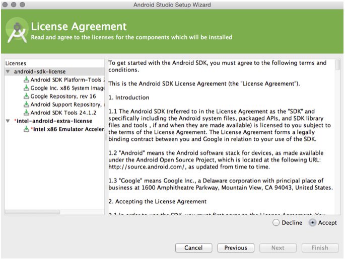 Android - licence agreement