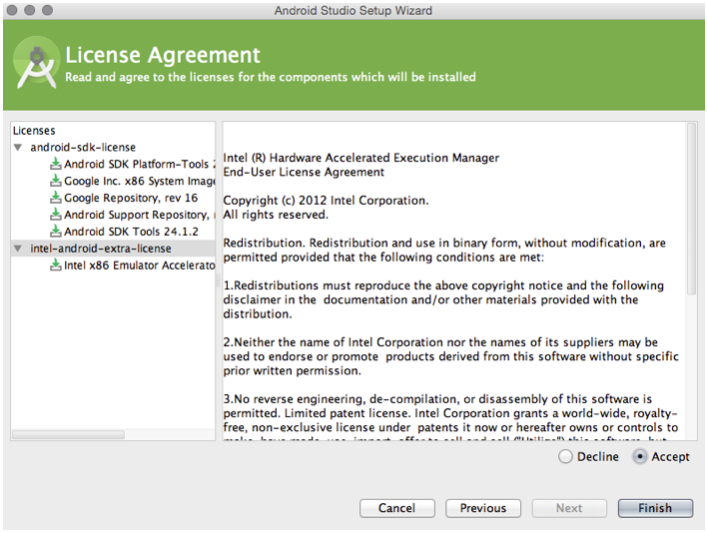 Android - licence agreement2